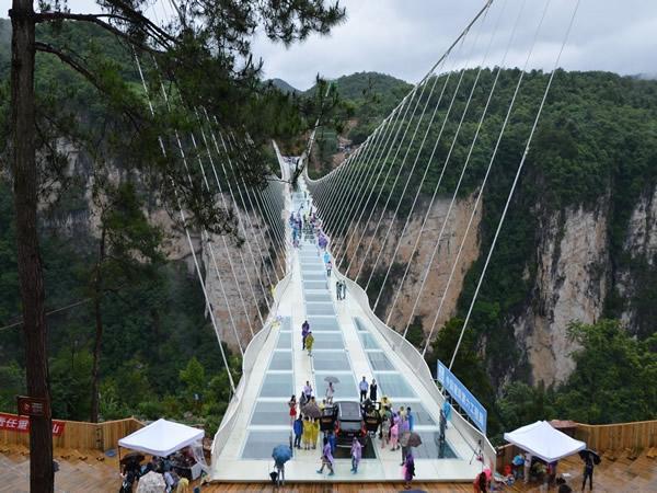 张家界玻璃桥专线-3【张家界发团】大峡谷 玻璃桥(云天渡),天门山